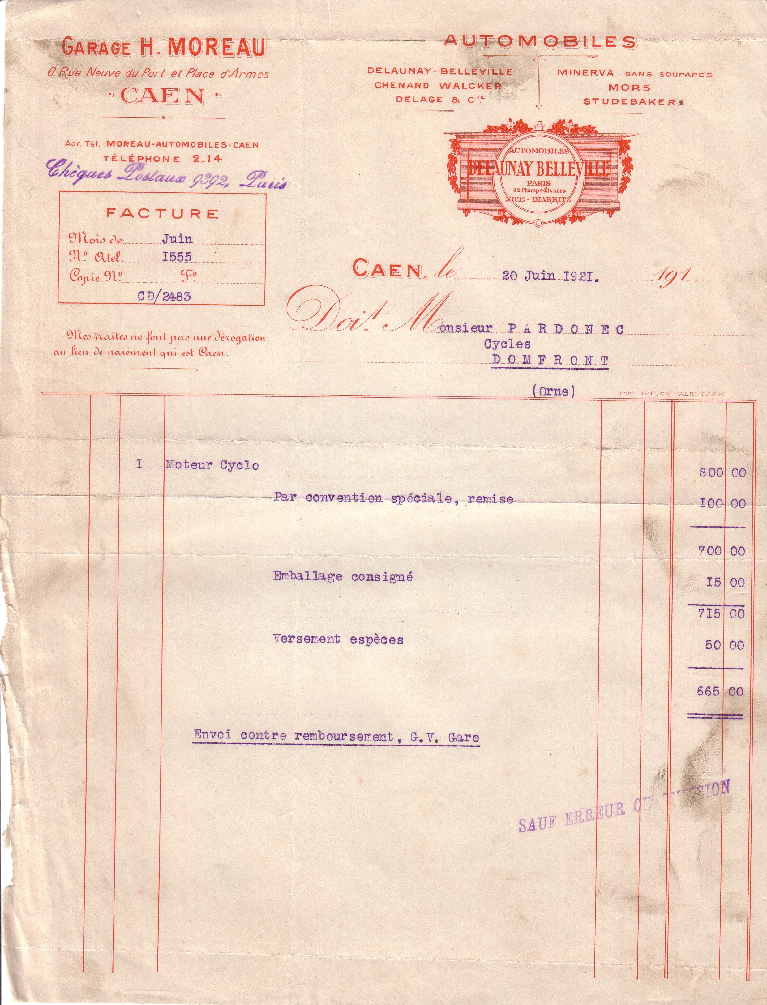 1921 : Mors dans Vie de Lucien 4460dd6e