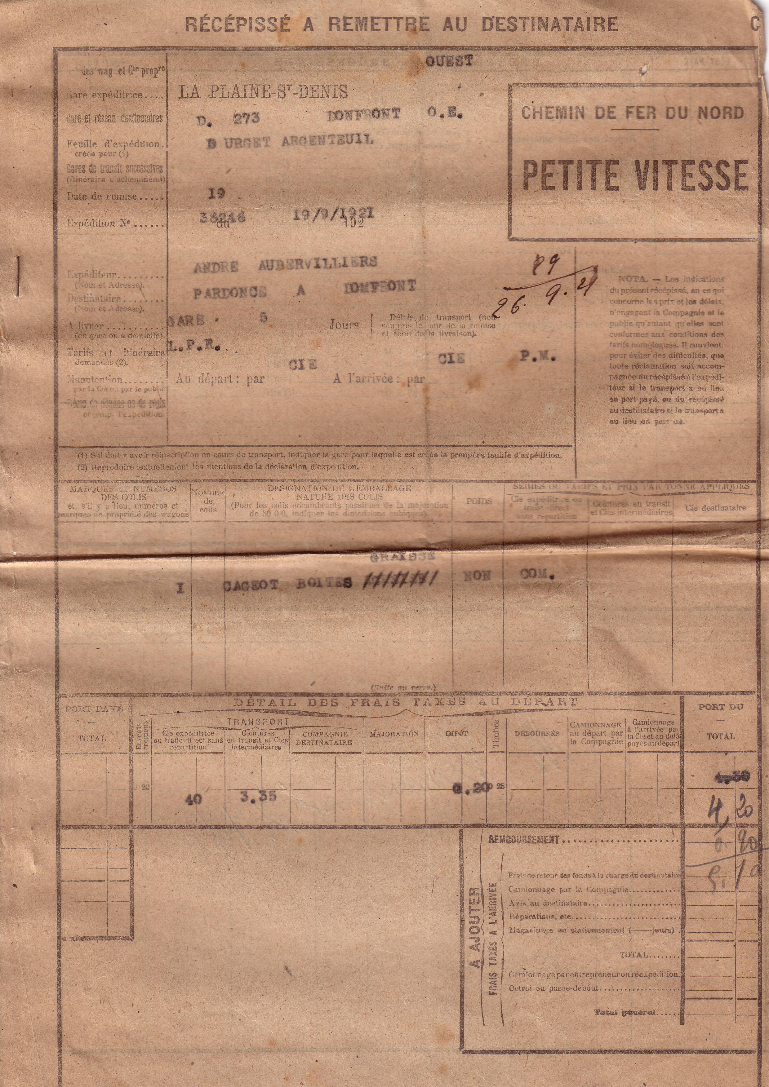 1921 : transport de marchandises dans Vie de Lucien 73c2b689