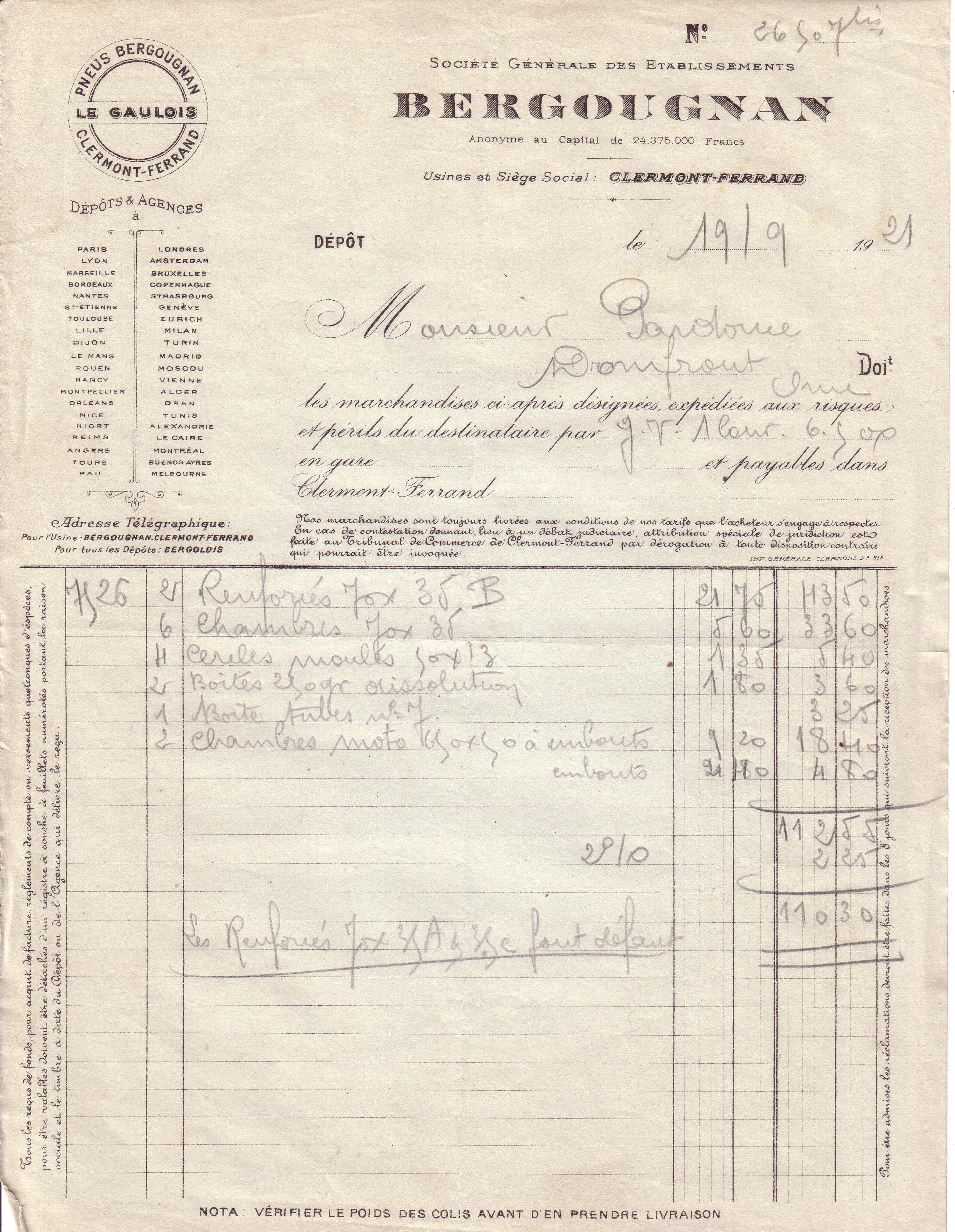 1921 : le pneu Bergougnan dans Vie de Lucien 14a66808