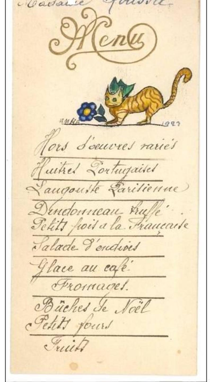 1921 : menu de Noël dans Miscellanees 1922-noel