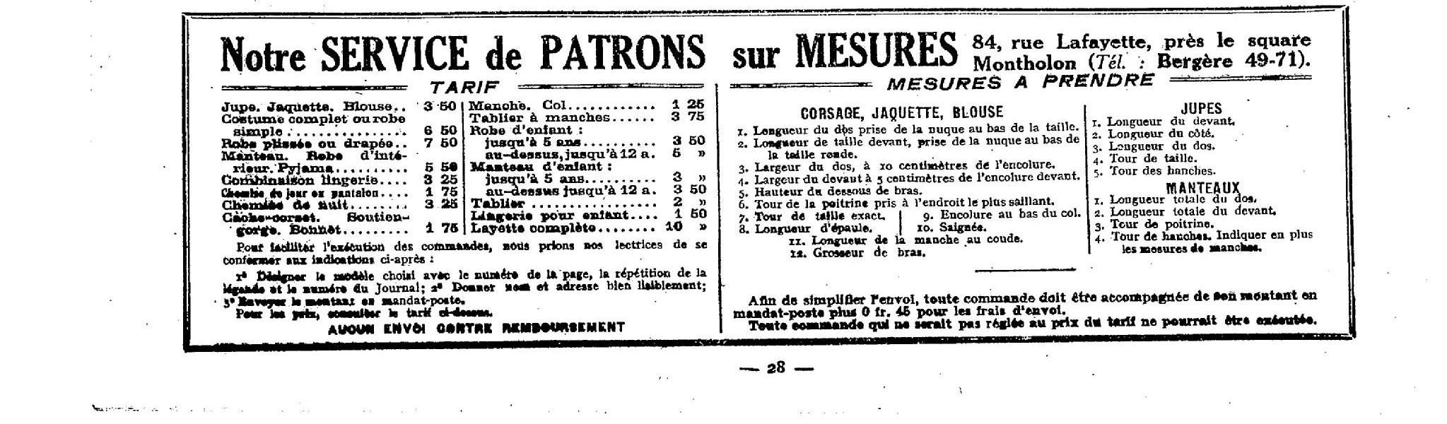 patron-le-femme-de-france-1921 dans Miscellanees