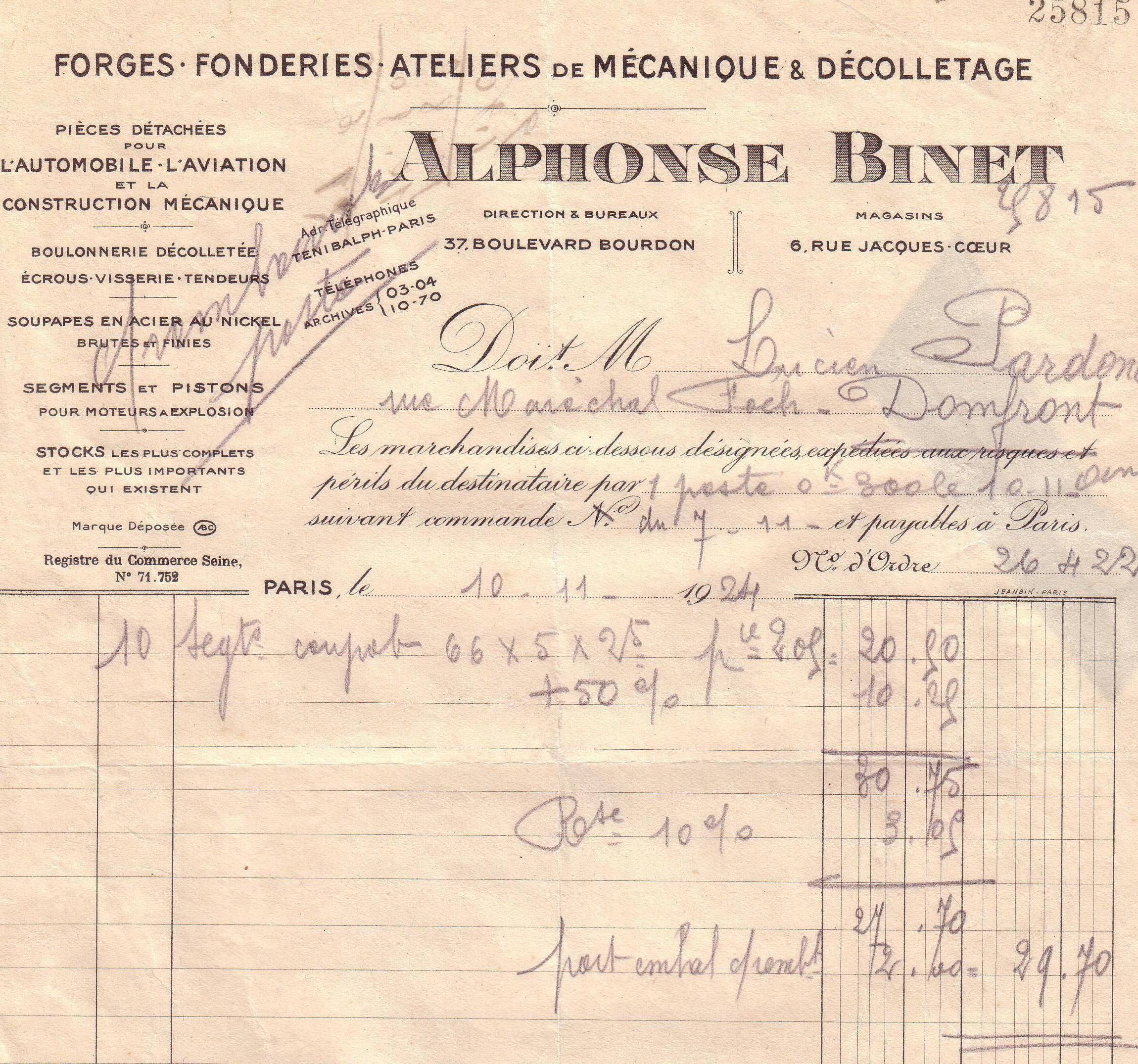 1922 : Alphonse Binet dans Vie de Lucien binet-1