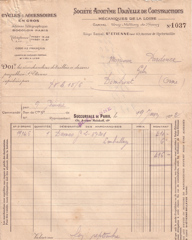 1922 : Damas dans Vie de Lucien damas