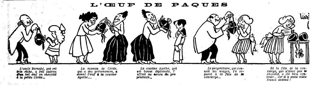 1922 : humour de Pâques  dans Miscellanees le-petit-journal-16041922